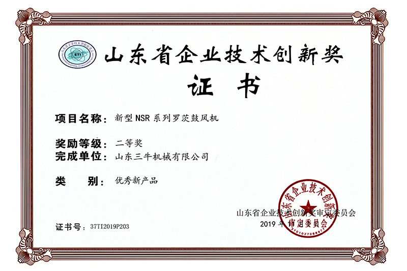 Shandong Enterprise Technology Innovation Award